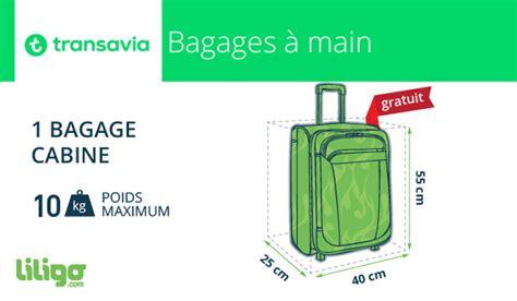 bagages transavia prix dimensions soute cabine