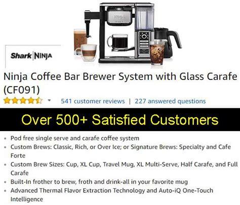 ninja coffee bar clean light ninja coffee bar brewer system with glass carafe cf091