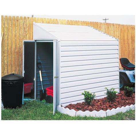 Equipment Storage Shed by Arrow Yardsaver Building 4ft X 10ft Model Ys410
