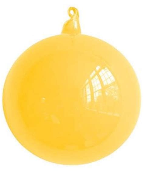80mm ball glass ornament yellow