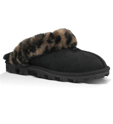 leopard house shoes ugg australia coquette leopard slippers