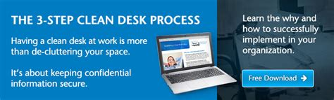 Clear Desk Policy by 6 Ways To Improve Information Security For Business Shred It
