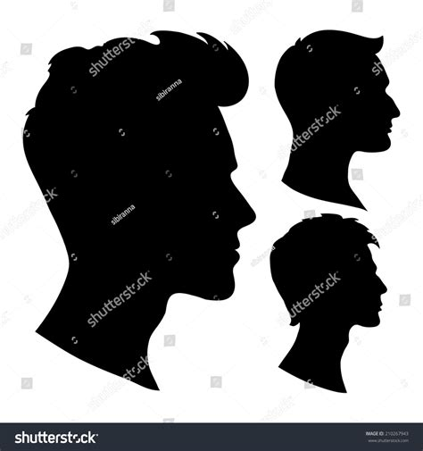 Hairstyle Tools Designs For Silhouette Cameo by Portrait Beautiful Hairstyle Profile Isolated Stock