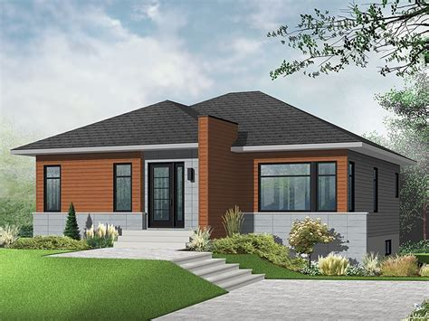 contemporary home plans modern empty nester home plan