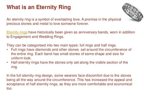 types meaning meaning types of eternity rings