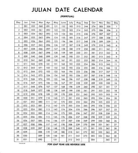 Julian Date Calendar Julian Calendar 8 Documents In Pdf Psd