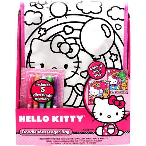 doodle hello hello doodle messenger bag coloring kit walmart