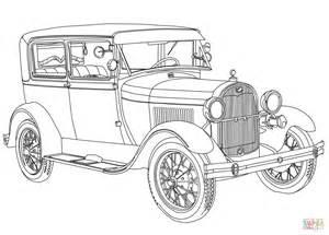 coloring page of model t car ausmalbild 1928 ford model a ausmalbilder kostenlos zum