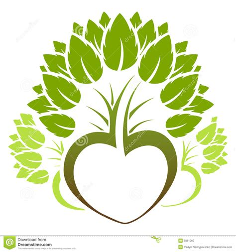 Abstract Green Tree Icon Logo Stock Vector Illustration 5861060 Logo With Abstract Tree Vector Free