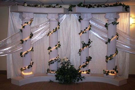 wedding columns decoration ideas   Elegant Roman Pillar 6