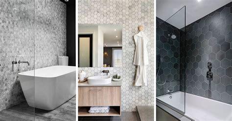 hexagonal tile bathroom bathroom tile ideas grey hexagon tiles contemporist