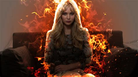wallpaper girl on fire the girl on fire by harunist on deviantart