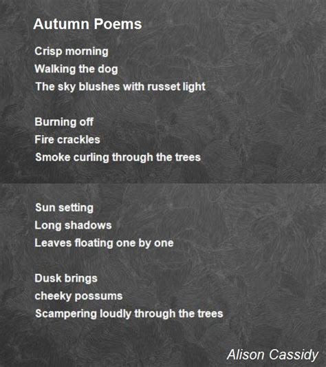 poem images autumn poems poem by alison cassidy poem