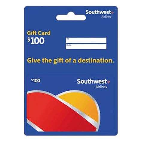 South West Gift Card - southwest airlines gift card 100 sam s club