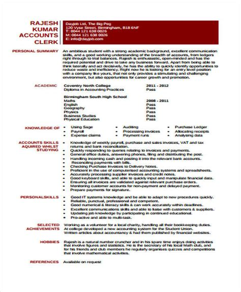cv template junior accountant 31 free accountant resumes