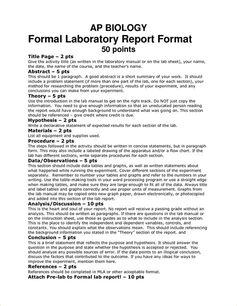 biology lab report template cover letter exles college graduate resume functional