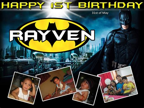 happy birthday batman design rayven s 1st birthday batman cebu balloons and party