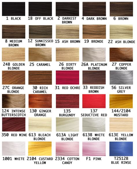 wig color chart wig colour chart style wigs uk