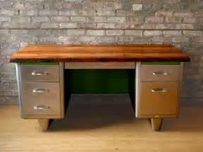 steel top desk reclaimed wood steel desk modified llc