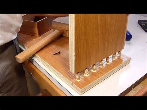 making  book case joined  dowels youtube