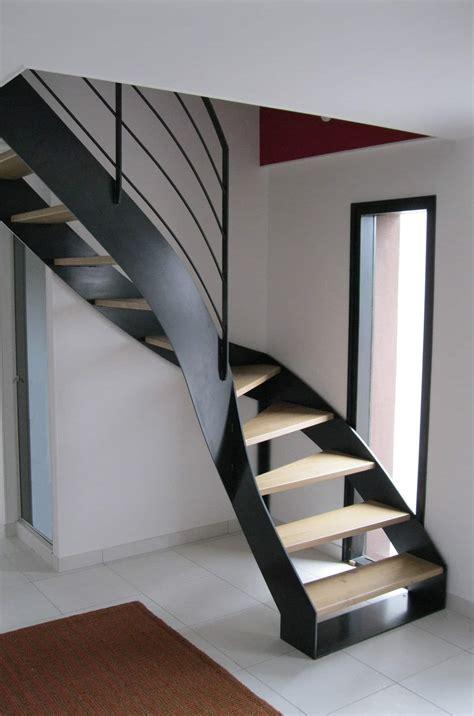 Escalier Droit Metal by Escalier Droit M 233 Tal Bois Avec Limons Lat 233 Raux Gamme Ferro