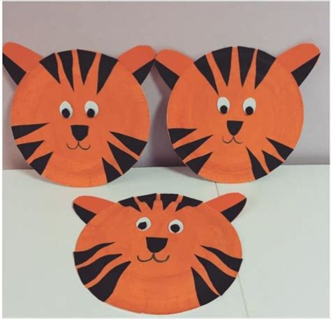 Tiger Paper Plate Craft - paper plate tiger craft crafts and worksheets for