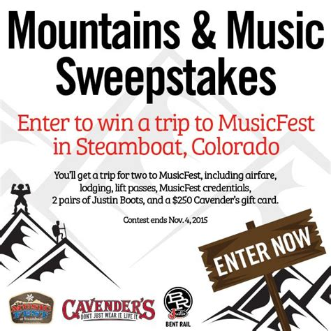 Music Sweepstakes And Contests - 2015 mountains music sweepstakes contests pinterest fun and music