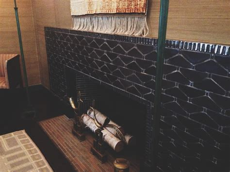The Fireplace Cranbrook by Cranbrook Museum Saarinen House In Bloomfield