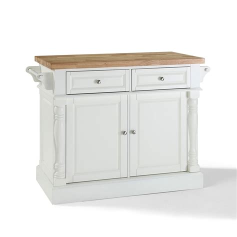 white kitchen island with top butcher block top kitchen island in white finish crosley