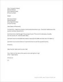 Employment Letter Template Word by Offer Letter Template For Word