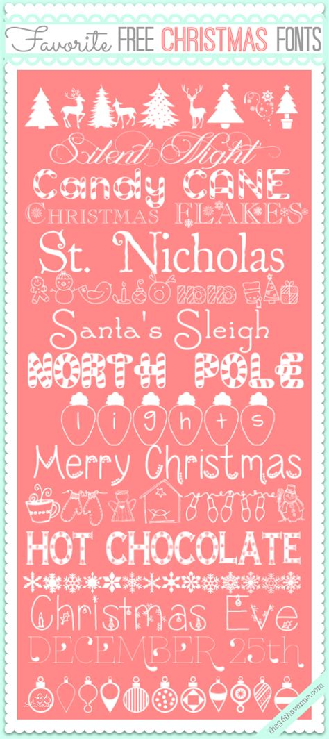 free christmas fonts the 36th avenue