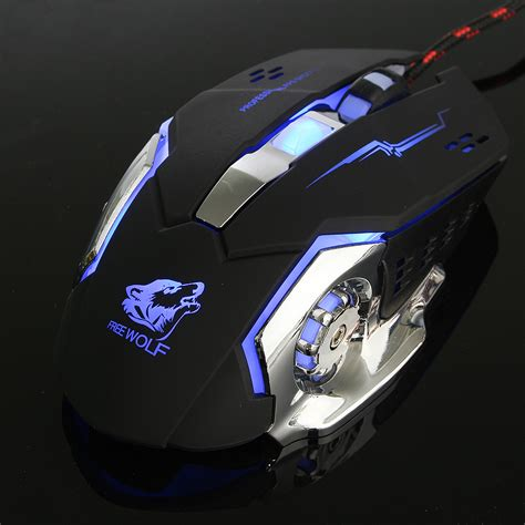 Limited Edition Mouse Gaming Mouse Kabel Asus 1200dpi Free Wolf 4000dpi 6 Button Led Optical Gaming Mouse