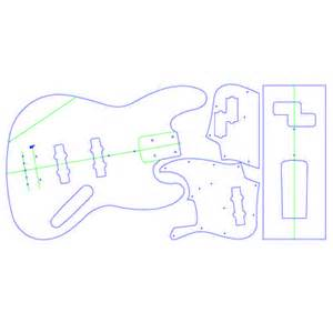 jazz bass pickguard template design your own products j style bass