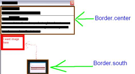 java layout set position set image at proper position in border layout in java