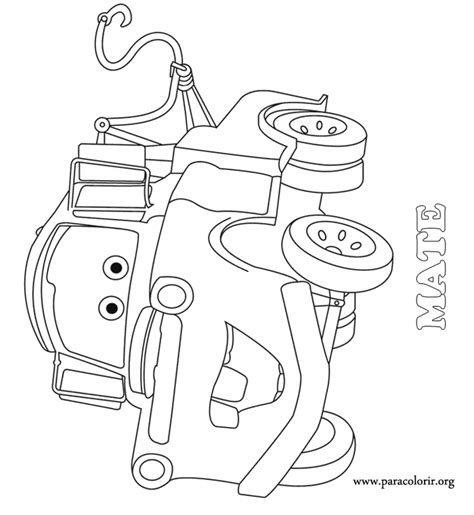 mater car coloring page mater from cars coloring pages download and print for free