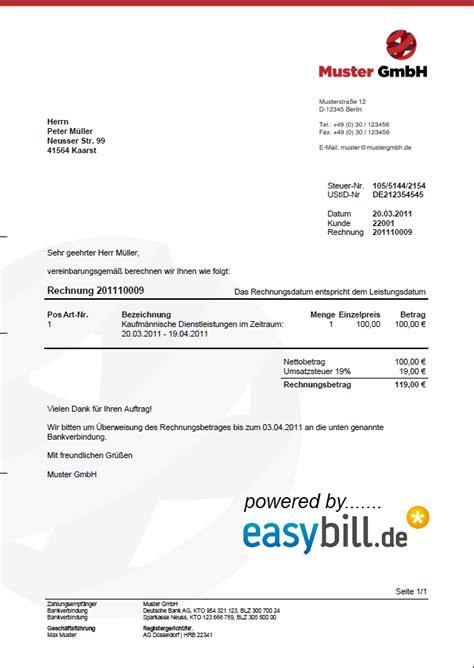 Musterrechnung Für Kleingewerbe Ohne Umsatzsteuer Rechnungsvorlage Und Angebotsvorlage