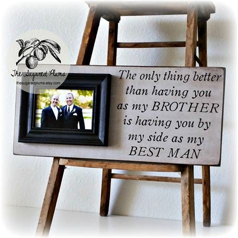 Best Man Gift Groomsman Groomsmen Brother Wedding Gift