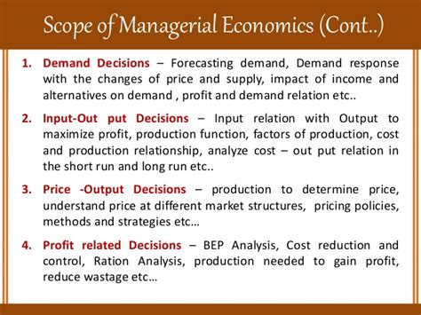 Managerial Economics Mba Explained by Nature And Scope Of Managerial Economics
