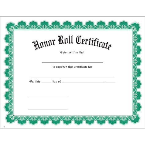 free honor roll certificate template free printable honor roll certificate template gallery
