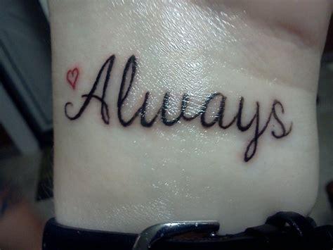 tattoo secret love my tattoo on left wrist i will love harry potter always