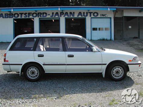 1989 toyota corolla wagon g touring only 73k km