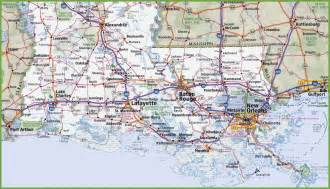 map louisiana map of southern louisiana