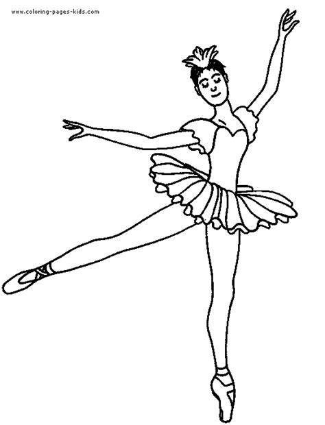 Coloring Pages For Kids Ballet And Ballerina Coloring Coloring Page Ballerina