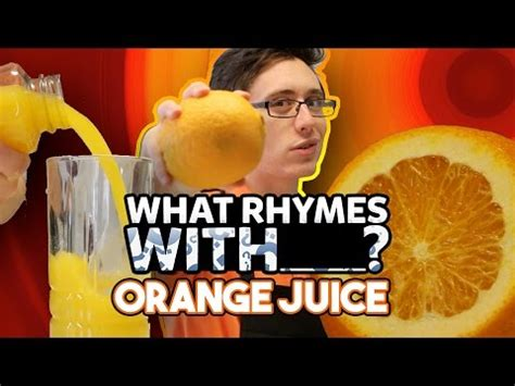 rhymes with challenge what rhymes with orange juice rap challenge