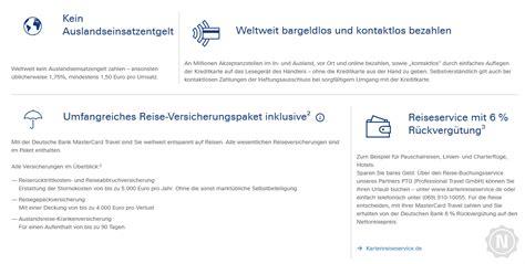 deutsche bank travel card deutsche bank kreditkarte test