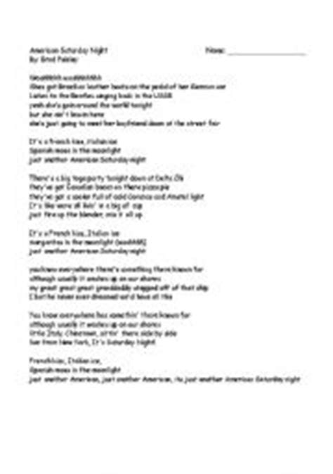 printable jealous lyrics english teaching worksheets other songs
