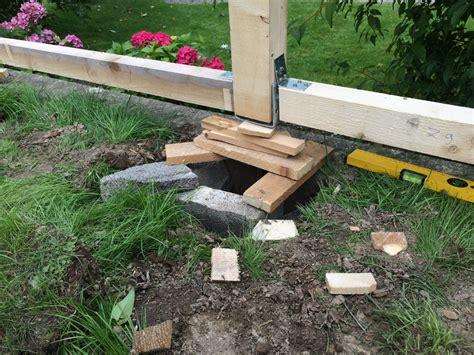 bauanleitung unterstand holz der aufbau des selbst gebauten kaminholzunterstand holz
