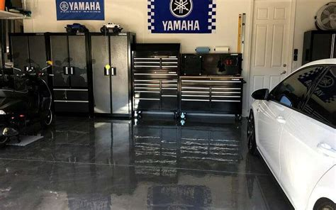 A RockSolid Metallic Garage Floor Coating Project   All