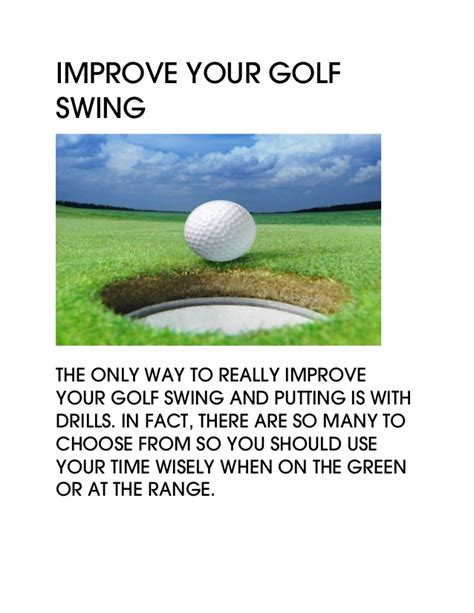 improve your golf swing improve your golf swing