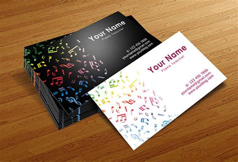 business cards for musicians template inspira 231 227 o de cart 245 es para m 250 sicos design on the rocks